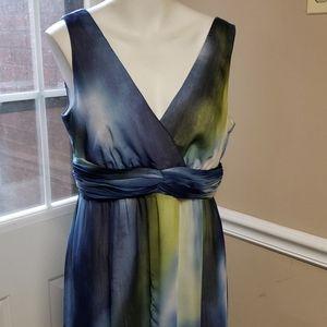Chico's blue chiffon long dress size 1